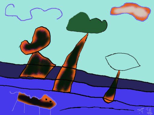 Harry BARTLETT FENNEY - Audiovisual-Multimedia - three trees (digi drawing1998)