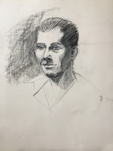 Louis DOLLÉ YMAGIER - Dessin-Aquarelle - Portrait de Charles