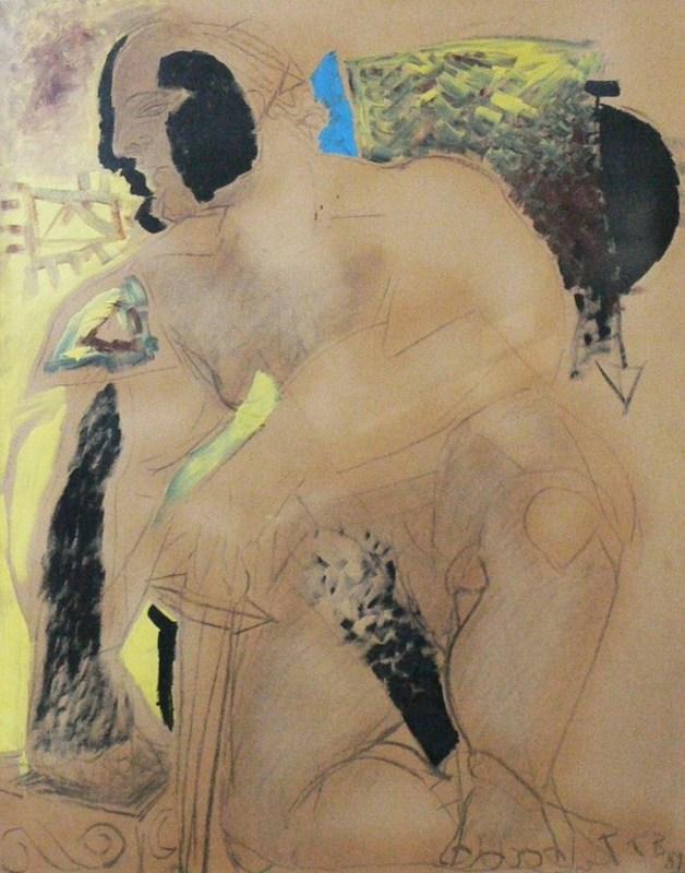 Christian BERNARD - Painting - Le guerrier