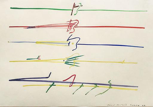 Philip RENTERIA - Disegno Acquarello - Traces