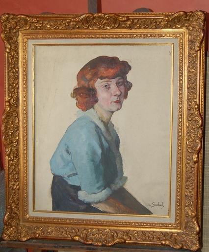 Lothar VON SEEBACH - Painting - portrait de femme