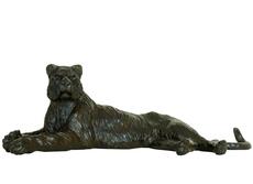Damien COLCOMBET - Sculpture-Volume - Tigresse couchée