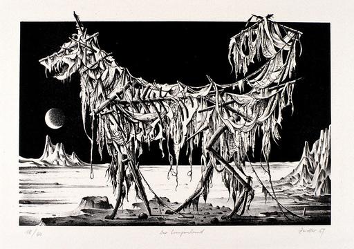 Hans-Joachim ZEIDLER - Estampe-Multiple - Der Lumpenhund