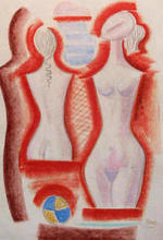 Mario TOZZI - Dibujo Acuarela - Figure