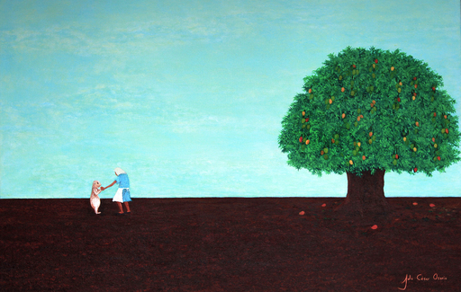 Julio César OSORIO - Painting - Mango Tree Wisdom    (Cat N° 6105)