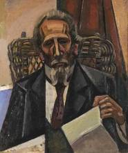 Alfred RETH - Painting - Portrait of the Musician Mazzi