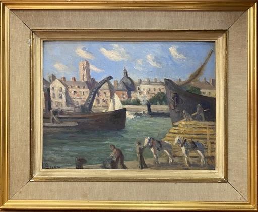 Maximilien LUCE - Peinture - Port de Dieppe