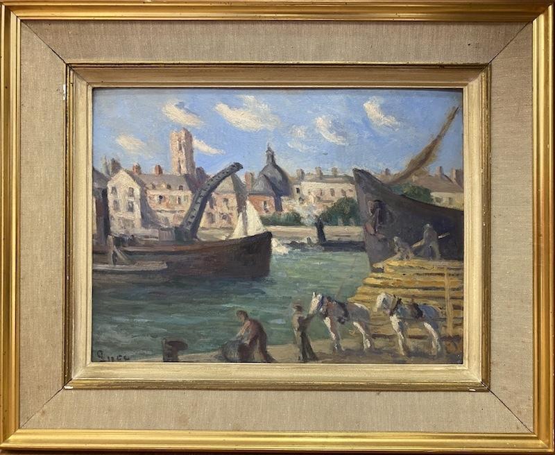 Maximilien LUCE - Pintura - Le port de Dieppe