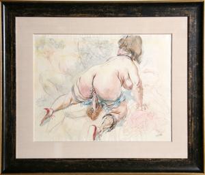 George GROSZ - Dibujo Acuarela - Erotic Drawing II