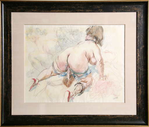 George GROSZ - Dibujo Acuarela - Erotic Drawing II
