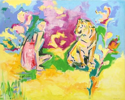 Nicole LEIDENFROST - Gemälde - Spannende Romanze