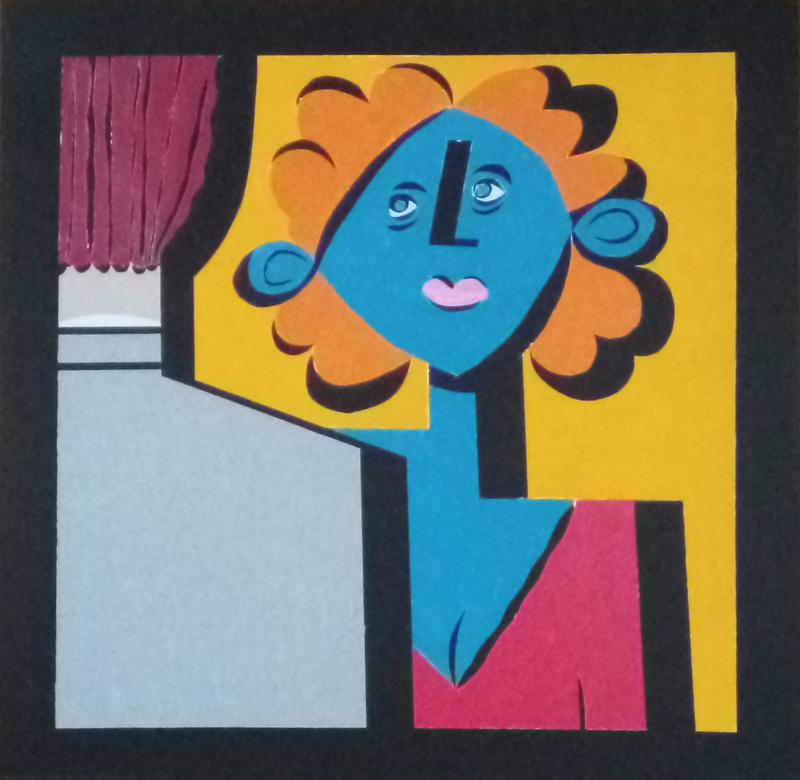 Harry BARTLETT FENNEY - Painting - orange hair meets Joe Pitt