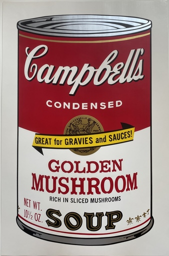 Andy WARHOL - Stampa-Multiplo - Campbell's Soup II Golden Mushroom F&S II.62
