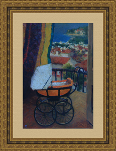Levan URUSHADZE - Painting - Landscape with baby carriage