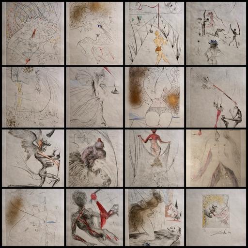 Salvador DALI - Druckgrafik-Multiple - La Venus aux Fourrures Complete Suite