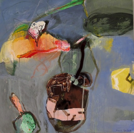 Moris GONTARD - Painting - Objets flottants