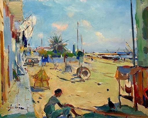 Joaquín MIR Y TRINXET - Gemälde - Playa de Villanova i la Geltrú