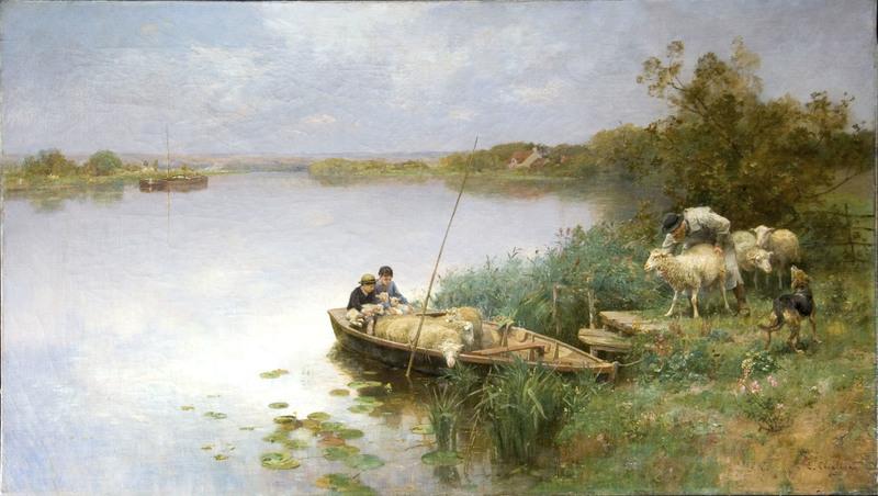 Luigi CHIALIVA - Painting - Da una riva all'altra