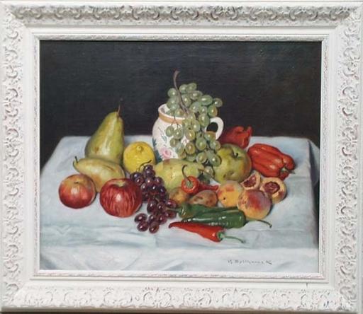 "Maximilian SPILHACZEK - Gemälde - ""Still Life"", Oil Painting by Max Spilhaczek, ca 1920"