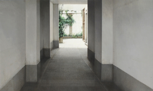 Carlos MORAGO FERNANDEZ - Pintura - Entrada al patio