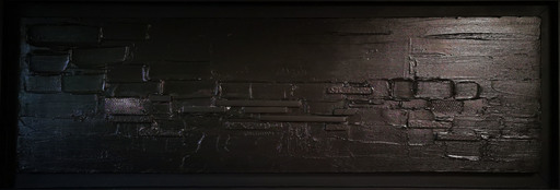 Elodie DOLLAT - Painting - Monochrome noir