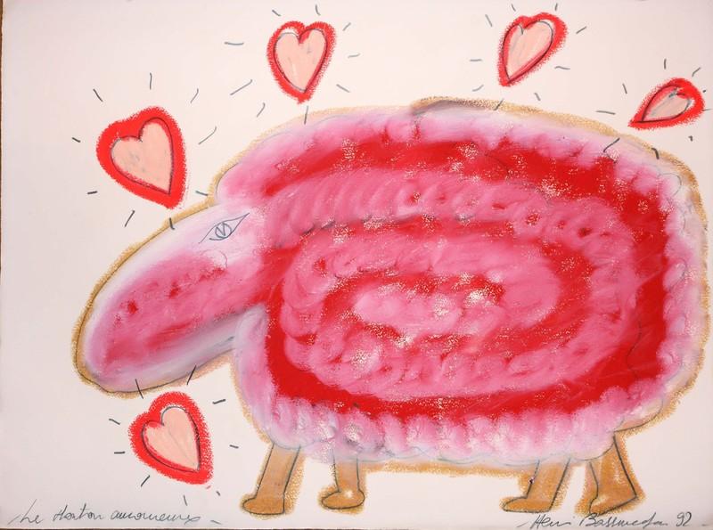 Henri BASSMADJIAN - Dessin-Aquarelle - le mouton amoureux