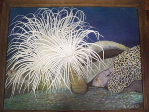 Antonio RESTIVO - Painting - Bouquet Sous Marin