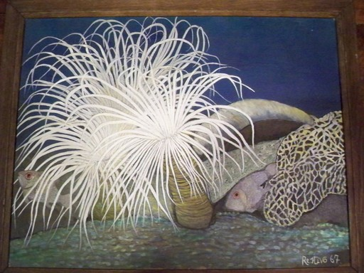 Antonio RESTIVO - Peinture - Bouquet Sous Marin