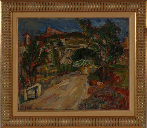 "Joseph LEVIN - Peinture - ""Motif of Provence"" oil on canvas, 1920/30s"