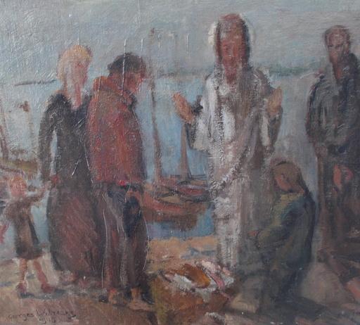 Georges WILMAERS - Pintura - Les pecheurs