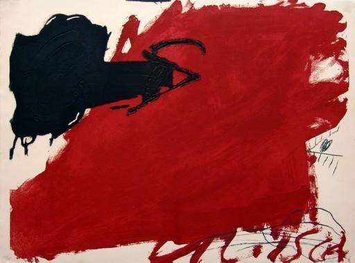 Antoni TAPIES - Stampa-Multiplo - Gran taca roja