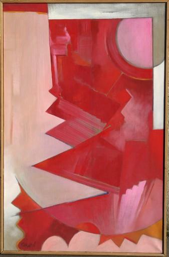 Jean-Pierre GRARD - Pintura - GRAND ABSTRAIT ROSE ET ROUGE