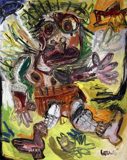 Thierry LOULÉ - Painting - L'ange travesti