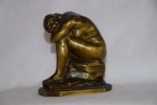 Aimé-Jules DALOU - Sculpture-Volume - Broken Mirror