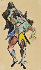 Lucio FONTANA - Drawing-Watercolor - ARLECCHINO