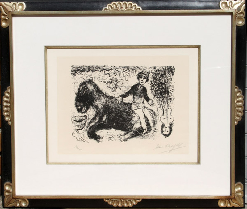 Marc CHAGALL - Stampa Multiplo - Le Garcon au Cheval (Boy with Horse)