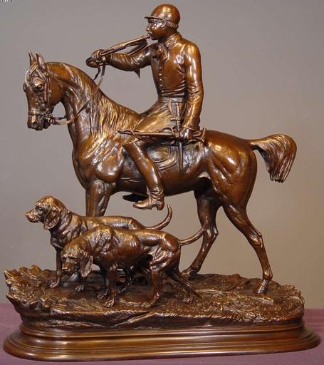 Édouard Paul DELABRIERRE - Skulptur Volumen - Master of the Hunt