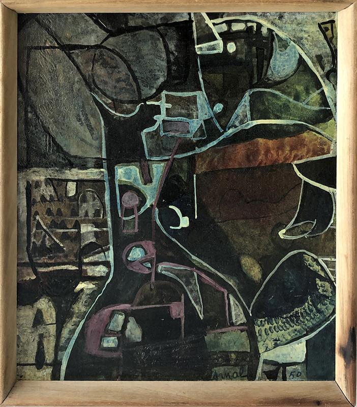 François ARNAL - Peinture - Composition Abstraite