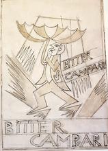 Fortunato DEPERO - Pintura - Bitter Campari