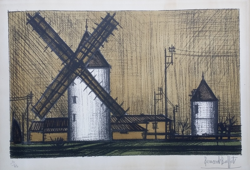 Bernard BUFFET - Print-Multiple - Les moulins