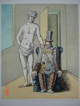 Giorgio DE CHIRICO - Grabado - Il riposo dell'Archeologo 1970