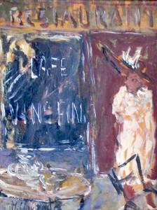 Marc CLAUZADE - Peinture - Elégante au restaurant