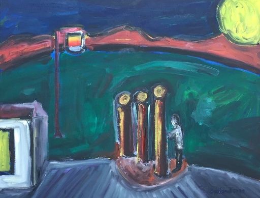Christian DURIAUD - Pintura - Le lever du soleil