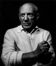 Lucien CLERGUE - Fotografia - Picasso con un cigarro