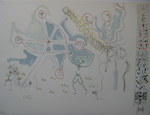 Raymond  MORETTI & Jean  COCTEAU - Print-Multiple - LITHOGRAPHIE SIGNÉE CRAYON NUM/XX HANDSIGNED NUMB LITHOGRAPH
