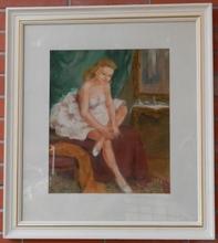 Pal FRIED - Drawing-Watercolor - Pensive ballerina