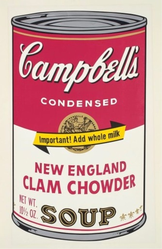 Andy WARHOL - Estampe-Multiple - Campbell's Soup II: New England Clam Chowder (FS. II.57)