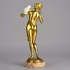 Charles KECK - Sculpture-Volume - Femme Avec Perroquet