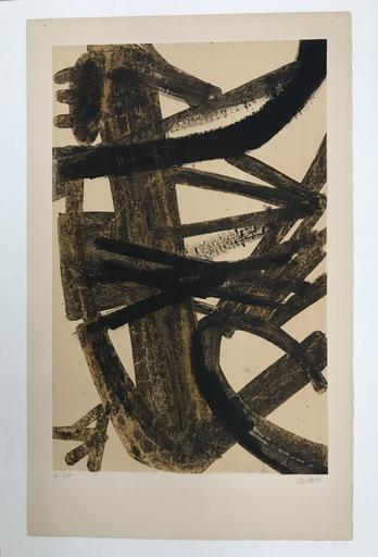 """Pierre SOULAGES - Estampe-Multiple - """"Peinture 1947"""""""