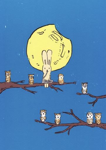 Atsushi KAGA - Grabado - Usacchi with owls